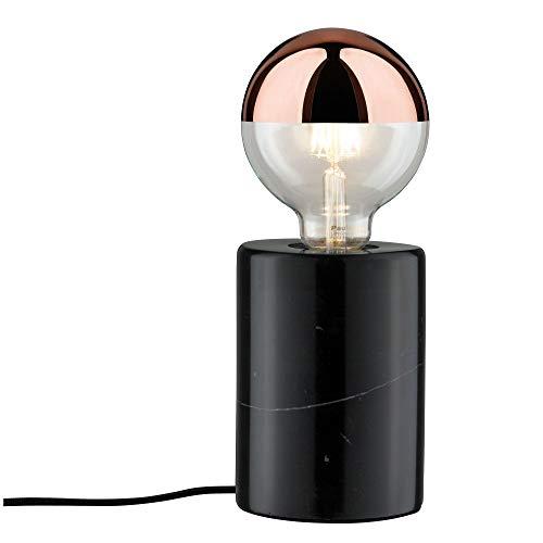 Schwarz-marmor (Paulmann Leuchten Paulmann 79600 Neordic Nordin Tischleuchte max. 1x20W Tischlampe für E27 Lampen Nachttischlampe Schwarz 230V Marmor ohne Leuchtmittel)