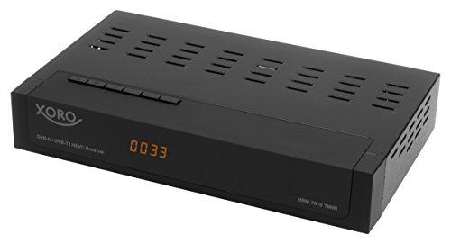 Xoro HRM 7670 TWIN Full HD HEVC DVB-T/T2/C Kombi Receiver (HDTV, HDMI,  Mediaplayer, USB 2.0, LAN, PVR Ready, 12V) schwarz