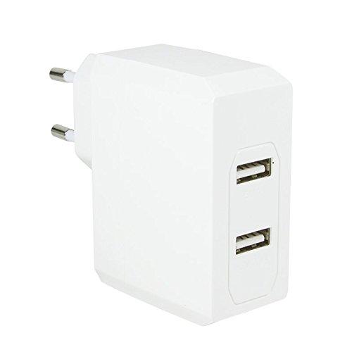 LogiLink PA0094 Universal adaptador para llave de vaso-tomas con 2 USB puerto