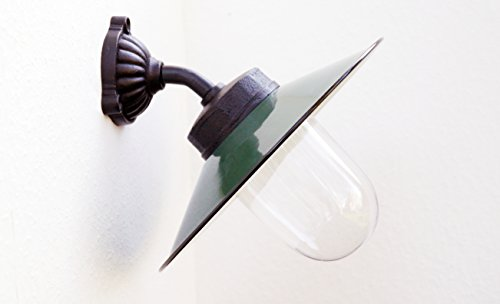 Außenleuchte nach historischem Modell Gartenlampe Hoflampe Außenlampe Landhausstil Modell Winkl dunkelgrün
