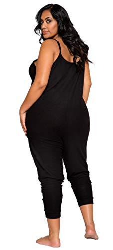 Roma Costume Damen Cozy and Comfy Pajama Jumpsuit Dessous, grau, X XX-Large - 2