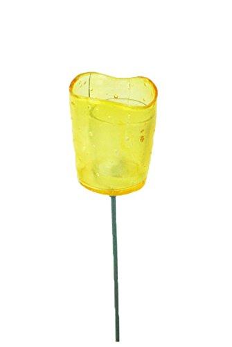 Giardino asta con lumino portacandela in vetro porta tea light decorazione del giardino, balcone, terrazza vento luce maschio in fibra di vetro