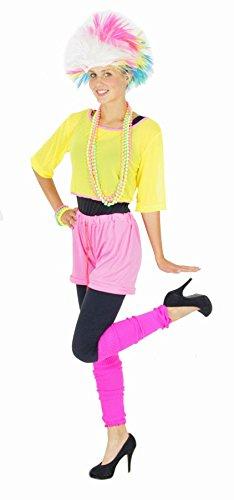 Foxxeo 40115 | 80er Jahre Kostüm Aerobic Popstar Stirnband für Damen , Größe:M