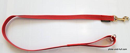 Artikelbild: Gummierte Hundeleine 1m mit Handschlaufe u. Ring rot