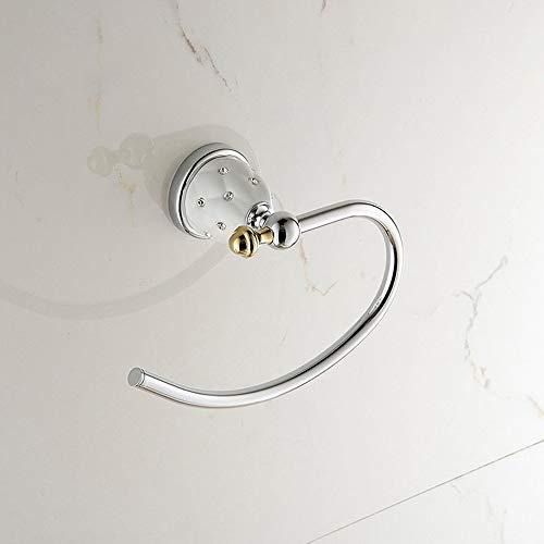 Rishx Soporte para Toallas de baño Montado en la Pared Anillo de...