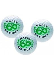 Golfballset HAPPY 60er, Golfball und Golfbälle, Golfgeschenk zum Geburtstag