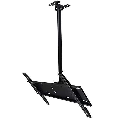 Exing Deckenverkäfte, TV-Cling-Halterung Mount Tilt Swivel Adjustable Telescopic 60~100cm 32-72 Zoll VESA bis zu 600x400mm, Höhe anpassbar -