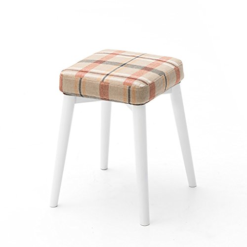 XIAOLVSHANGHANG HHCS Massivholz-Schemel-Quadrat-Schemel kann gestapelter Schemel-kreativer Art-Frisierkommode-Schemel-Gewebe-Tabellen-Schemel-Haus-kleiner Schemel sein Hocker & Stühle (Farbe : #8) - 8 Fuß Massivholz