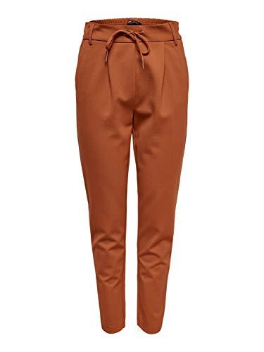 ONLY NOS Damen Onlpoptrash Easy Colour Pant PNT Noos Hose, Braun Ginger Bread, W/L34(Herstellergröße: XL)