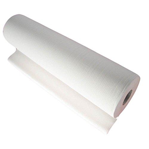 Takestop®, rollo de papel de sábanas desechables precortadas, 80x 60cm, para camilla de masaje, esteticista, médico, celulosa 2capas microcollar