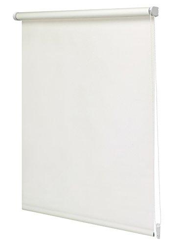 Intensions - Estor enrollable translúcido, Regular, Blanco Mate crudo, 150x250cm