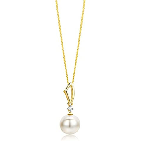 Miore - Colgante de oro amarillo de 9 quilates con diamante (.01)