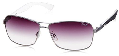 IDEE Square Sunglasses (IDS1826C4SG|100|Shiny Black and Gun ) image