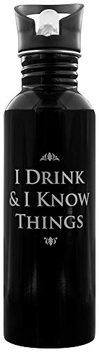 Half Moon Design (Half Moon Bay WTRBGT01 Game of Thrones Water Bottle I Drink & I Know Things Half Moon Accessori Cucina, Juventud Unisex, Multi, Unico)