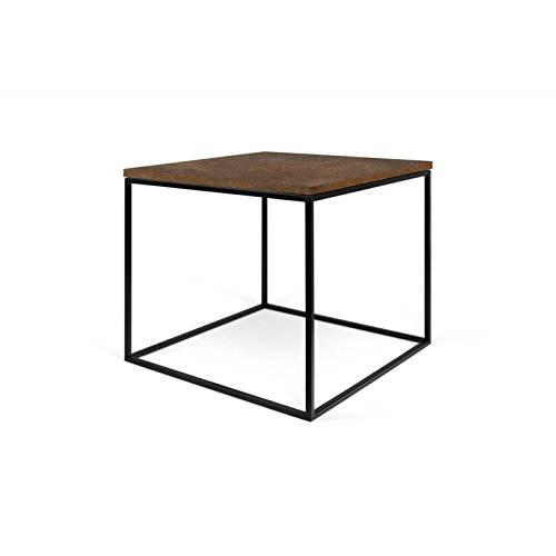 Paris Prix - Temahome - Table Basse Gleam 50cm Rouille & Métal Noir