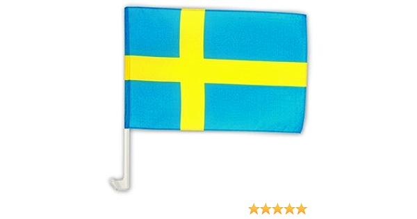 Autofahne Autoflagge Schweden 30 X 45 Cm Sport Freizeit