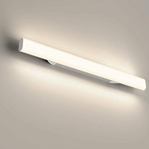 12W 1200LM Lámpara LED de pared, Lámpara de espejo Aplique de Baño LED 440mm 4000K Luz...
