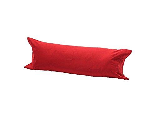 LNB rot lang Nackenrolle Kissenbezug Orthopädische Still Schwangerschaft Schwangerschafts Kissen Fall nur Kissenhüllen, 50 % Baumwolle / 50 % Polyester, rot, Super King 6ft(72