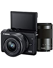 Canon EOS M200 Mirrorless Camera, EF-M15-45mm f/3.5-6.3 is STM and EF-M55-200mm f/4.5-6.3 is STM Lens, 24.1 MP, 16 GB Memory Card and Carry case