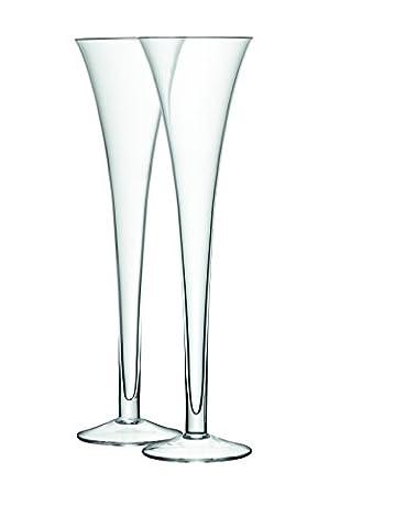 LSA International 225 ml Bar Grand Hollow Stem Flute, Clear (Pack of 2)