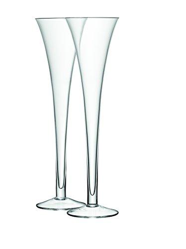 LSA International 225ml Bar Grand Hohl Vorbau Flöte, transparent (2Stück) - Grand Flöte