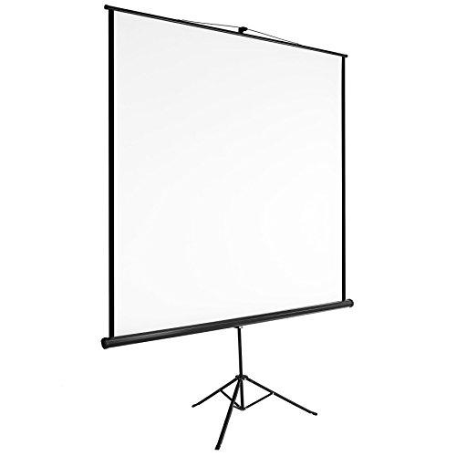 Tectake schermo proiezione con treppiede home cinema videoproiettore 16:9 4:3 hd tv - disponibili in diverse misure - (203x203cm | no. 402515)