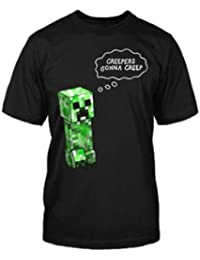 Boys Minecraft Boys Black And Green Image T-Shirt