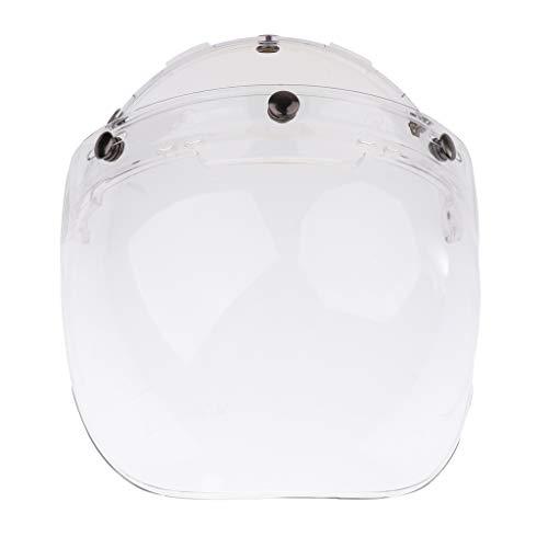 Dolity 1 Stück 3-Snap Bubble Windschild Visier Flip Up Ersatz Visier Schutzschild Blasenschild für Motorradhelme - 3