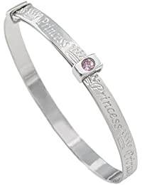 Princess Sterling Silver Expander Bracelet Bangle for Babies