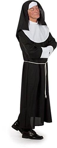 Kostüm Für Nonne Erwachsene Lustige - Nonne Kostüm Herrenkostüme Herren Karneval Fasching Schwarz Weiß