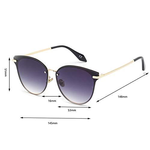 JYTDSA stilvolle UV400 abgerundete quadratische Vollrand-Sonnenbrille mit Farbverlauf für Frauen