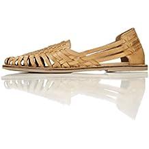 FIND Chaussures d'Eté en Cuir Femme