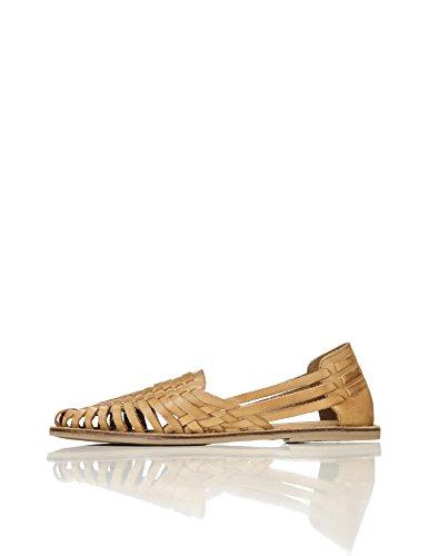 Find sandalo basso donna, marrone (cuoio), 39 eu