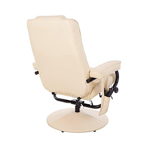 Homcom Massagesessel 921-006CW  inkl. Hocker Creme - 3
