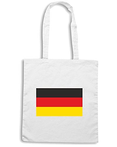 T-Shirtshock - Borsa Shopping TM0193 Germany flag Bianco