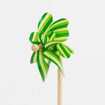 Windspiel - Moulin 14 - UV-beständig und wetterfest - Windrad: Ø14cm, Standhöhe: 32cm - fertig aufgebaut inkl. Standstab von Colours in Motion bei Du und dein Garten