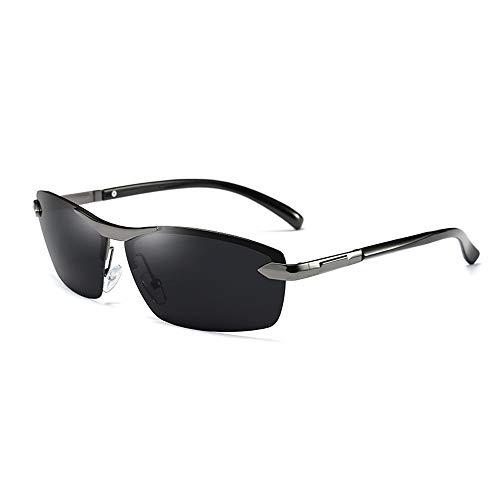 UV-geschnittene Hochleistungsbrille mit Tag- und Nachtsport-Sonnenbrille Herren-Nachtsport-Sonnenbrille zum Nachtfischen Sonnenbrillen und flacher Spiegel ( Color : Grau , Size : Kostenlos )