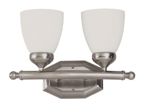 Trans Globe Lighting 2512BN 2-flammige Wandleuchte Bad Bar, Gebürstetes Nickel von Bel Air Beleuchtung -