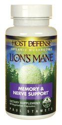 Host Defense® Lion's Mane Capsules, Memory & Nerve Support, 60 count