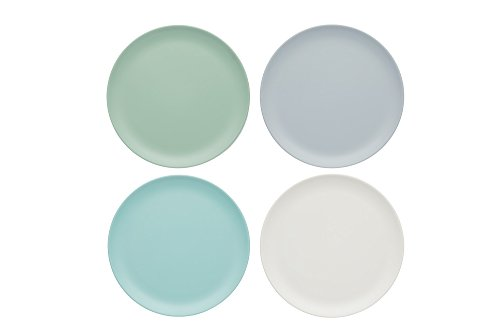 Kitchen Craft CWCLMPLATE9PK4 Colourworks Unzerbrechliche MelaminBeilagenteller, klaßiker farben, 23 x 23 x 1 cm