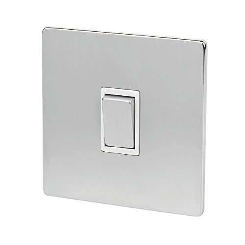 Chrome Light Switch (LAP 1-Gang 2-Way 10AX Light Switch Brushed Chrome by LAP)