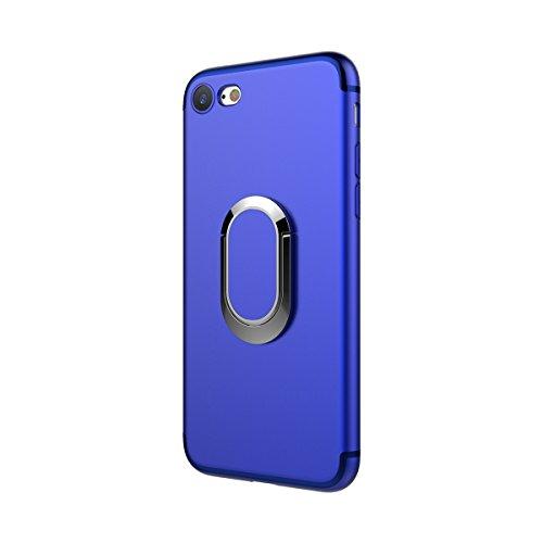 MOONCASE iPhone 6/iPhone 6s Custodia, AntiGraffio Antiurto Protezione Supporto per Auto Cover Ultra Slim Flessibile TPU Armatura Defender Case per iPhone 6/iPhone 6s 4.7 Rosa Blu
