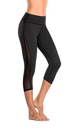 Eono Essentials-Damen Capri Yoga Pants (Dunkelgrau, Medium) (Capri Yoga Pants Medium)