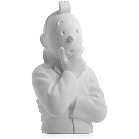 Busto de porcelana Tintín pensativo Moulinsart Mate 12cm - 44200 (2015)