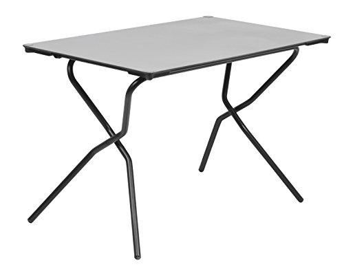 Lafuma Rechteckiger Gartentisch, für 4 Personen, Klappbar, Wetterfest, stein (grau), 110 x 68 cm