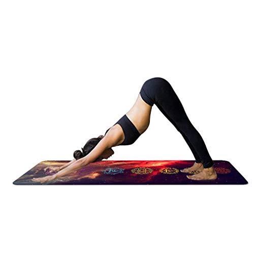 JameStyle26 Yoga Mandala Print Yogamatte mit Tasche 1,5 mm dünn weich leicht faltbar rutschfest aus Naturkautschuk Travel Fitness Gymnastik Outdoor Sport Matte 180 x 68 cm mit Tasche (Variante 1)
