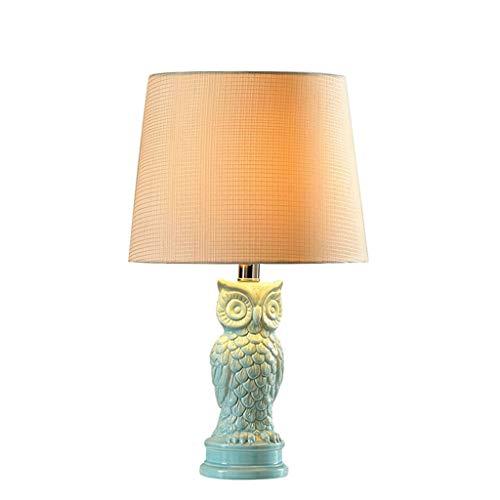 DUOMING Lámpara de Mesa, Lámpara de Mesa de cerámica Dormitorio ...