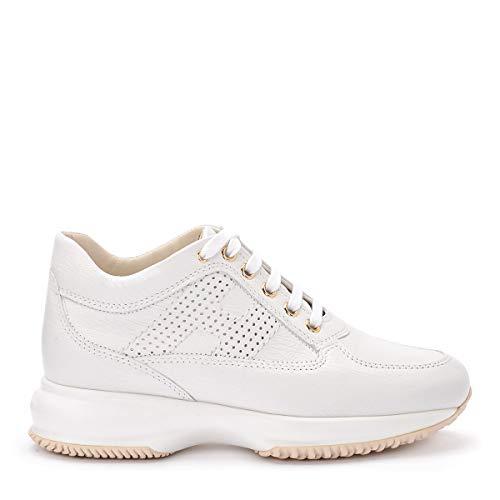 Hogan sneaker interactive in pelle bianca stampata e80e8758812