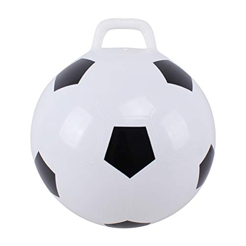 TOYANDONA Sprungball Fußball Spielzeug Hopper Ball für Kinder Kinder 45 cm (Weiß, Fußball)