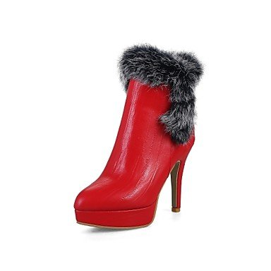 Similicuir Amp; Femmes Fourrure Chaussures M Automne Printemps Heart wdqXFaw